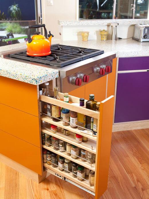 Бутылочница для кухни шириной 150 мм