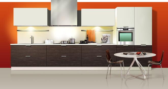 Корпусная мебель для кухни в стиле минимализм