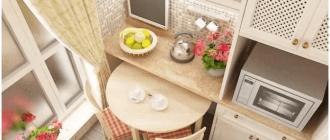 круглый обеденный стол на маленькой кухне