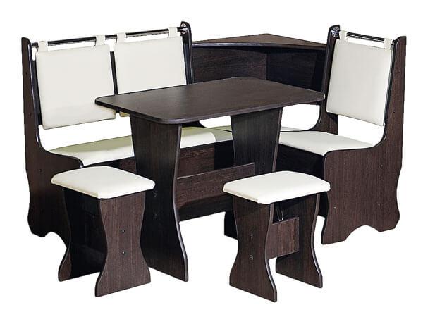 Кухонный уголок в комплекте со столом и стульями