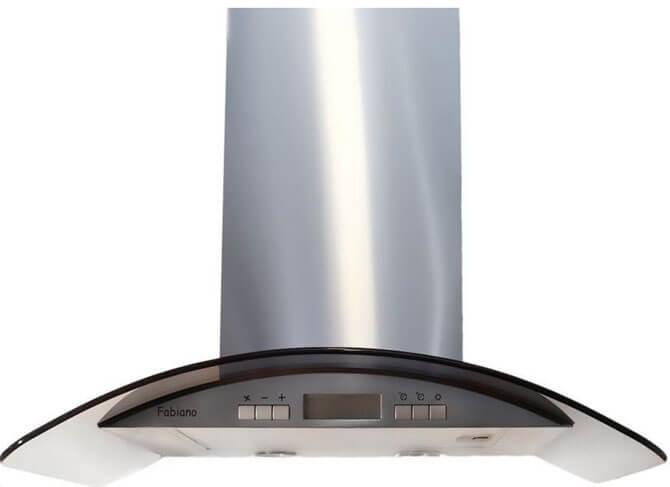Купольная вытяжка Fabiano Arco A 90 inox(LCD)