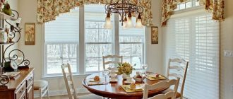 ламбрекены на кухню фото
