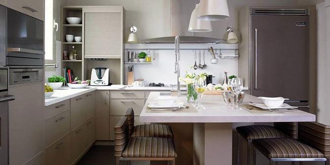 Обеденная группа в интерьере кухни