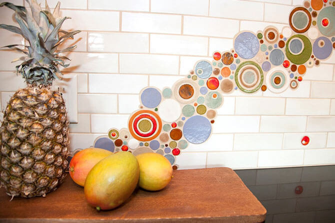 плитка под мозаику для кухни