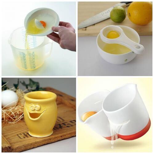 Сепараторы для яиц отделяют белок от желтка