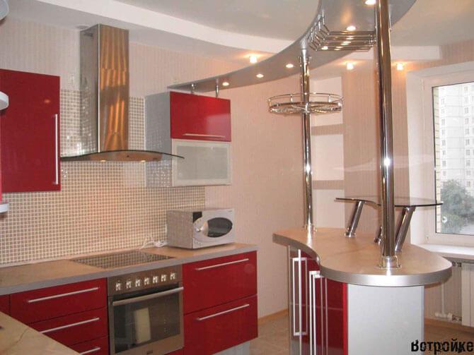 Барная стойка для кухни фото