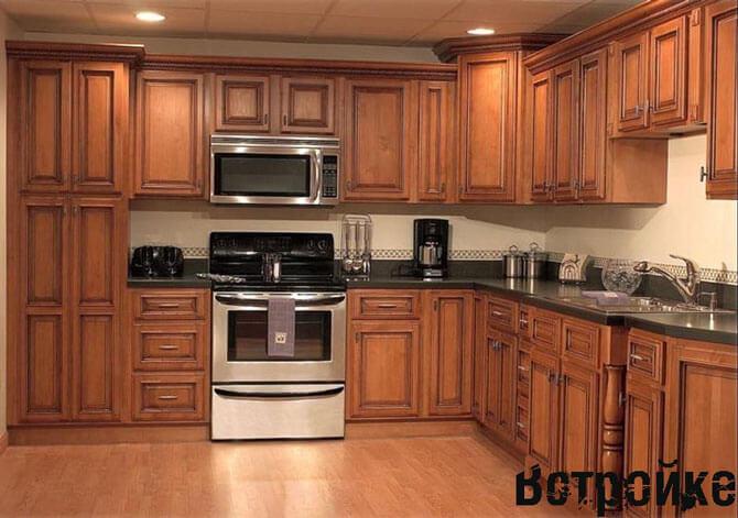 кухни деревянные фото
