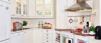 Дизайн Г образной кухни