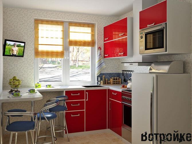 интерьер кухни 11 кв м