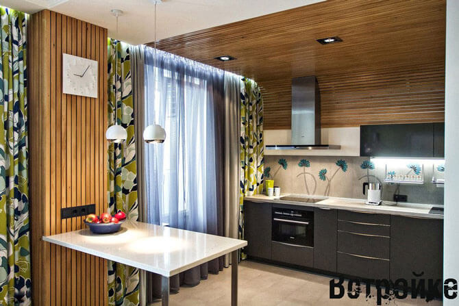Кухни 14 кв м фото