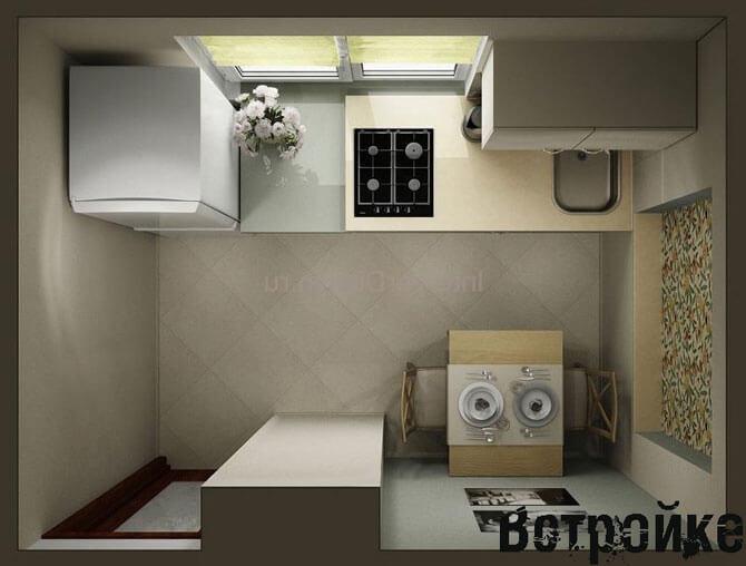 проект кухни 5 кв м