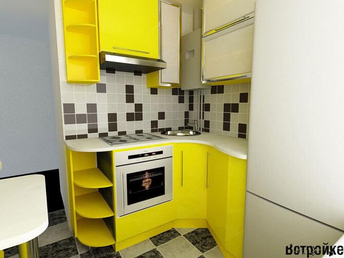 Дизайн кухни 5 кв. м.