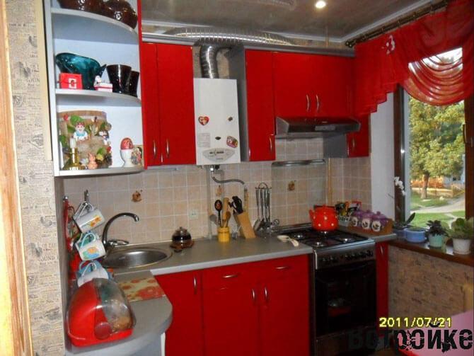 Дизайн кухни 5 квм с колонкой