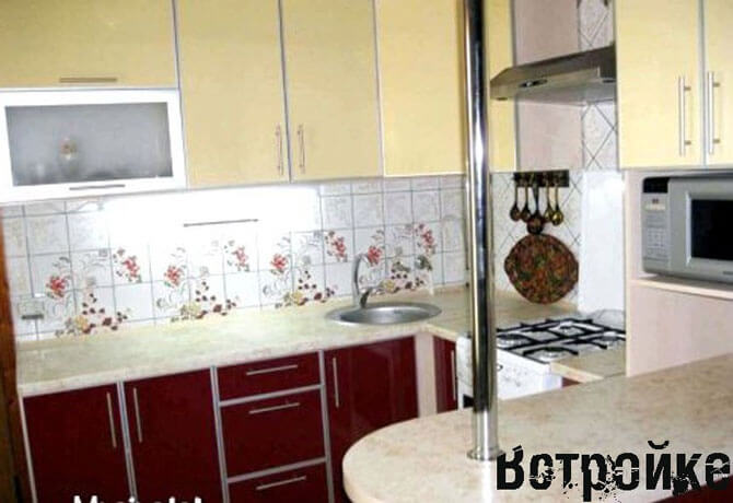 Дизайн кухни 7 кв м фото