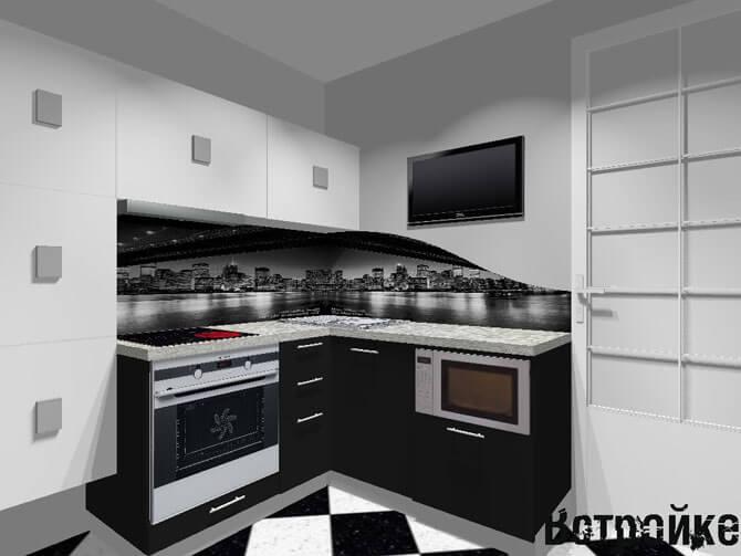 Вариант дизайна кухни 7 кв м