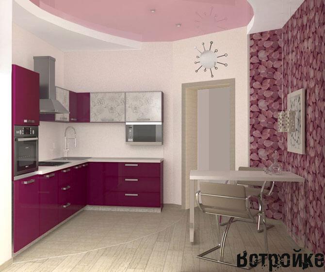 Кухня 9 м2 интерьер