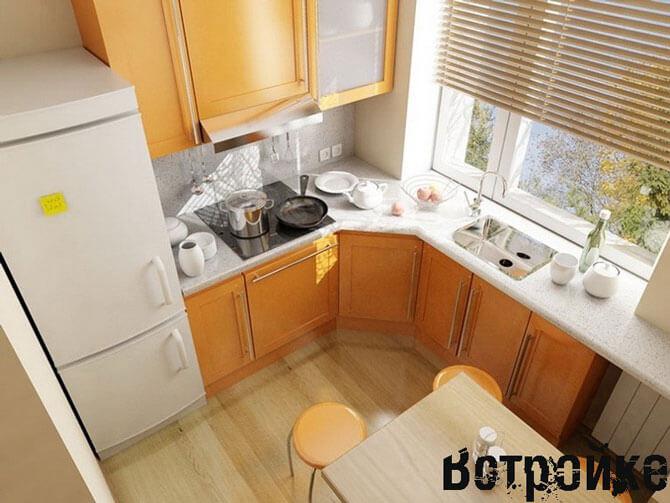 Дизайн маленькой кухни на даче