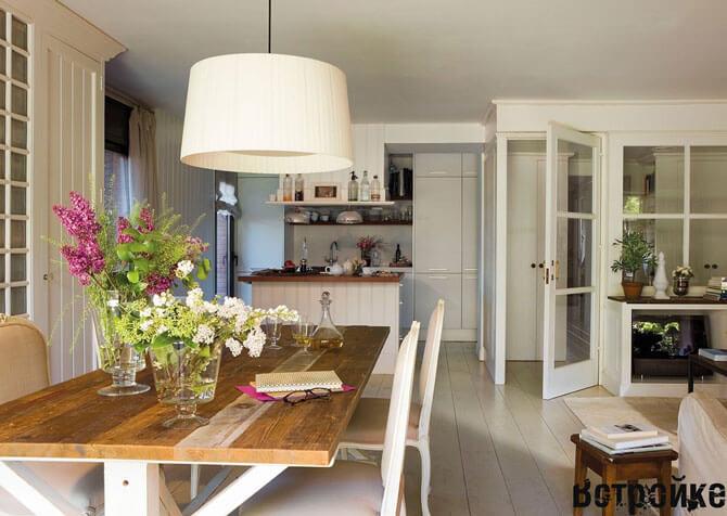 дизайн кухни гостиной на даче
