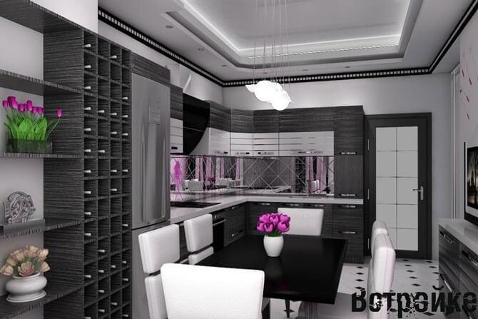 Дизайн кухни п 44 фото