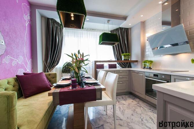 Дизайн кухни 14 метров фото