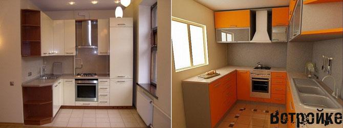 Интерьер квадратной кухни
