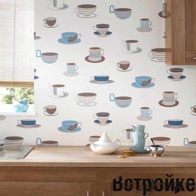 Дизайн обоев для кухни фото