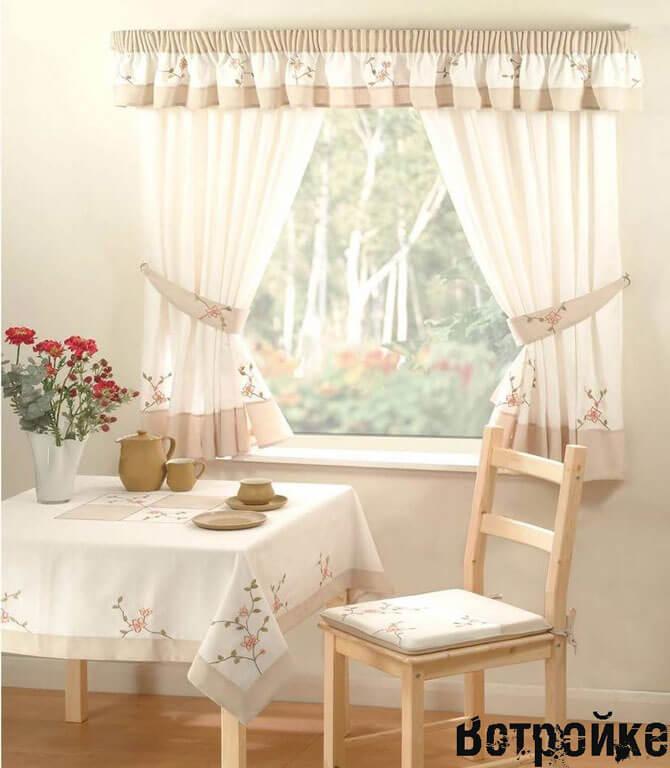 Кухонные тюль и шторы во французском стиле