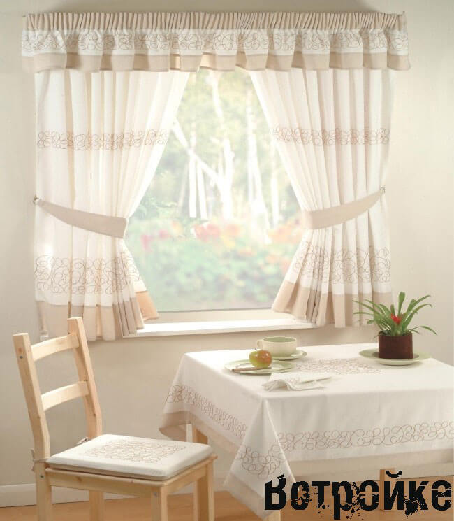 шторы на кухню фото