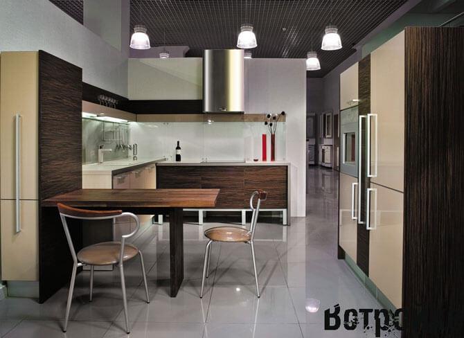 кухня угловая без навесных шкафов