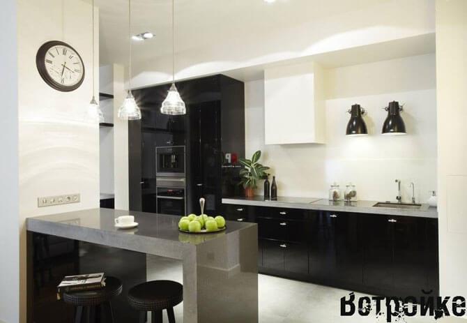 кухня без навесных шкафов фото