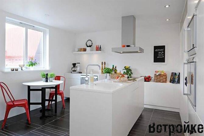Кухня без верхних навесных шкафов