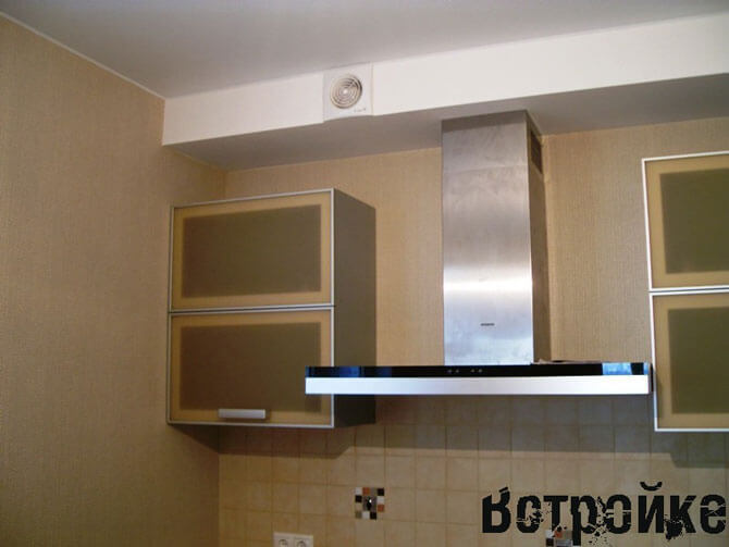 кухня с купольной вытяжкой фото