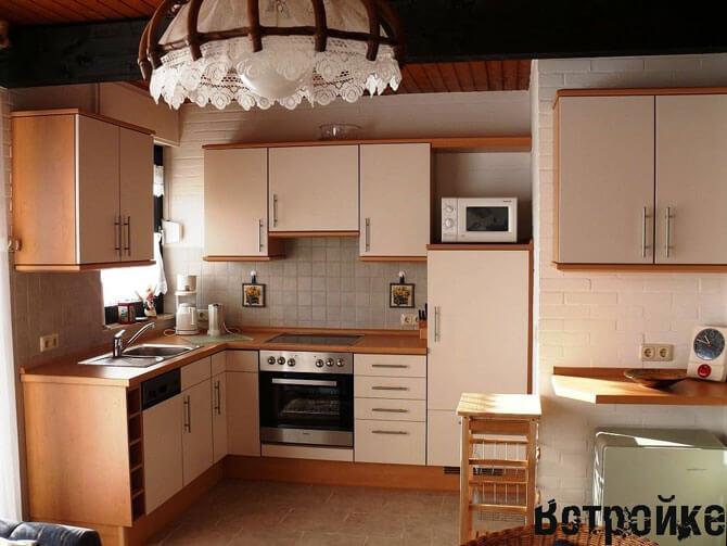 кухня со встроенной техникой фото