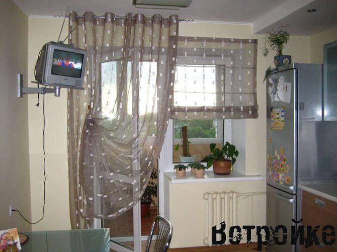 Дизайн занавесок на кухню фото