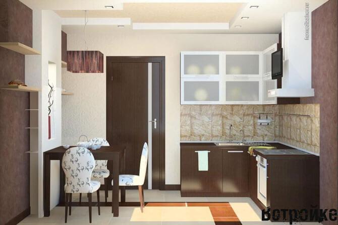 Дизайн проект кухни 13 кв. м.