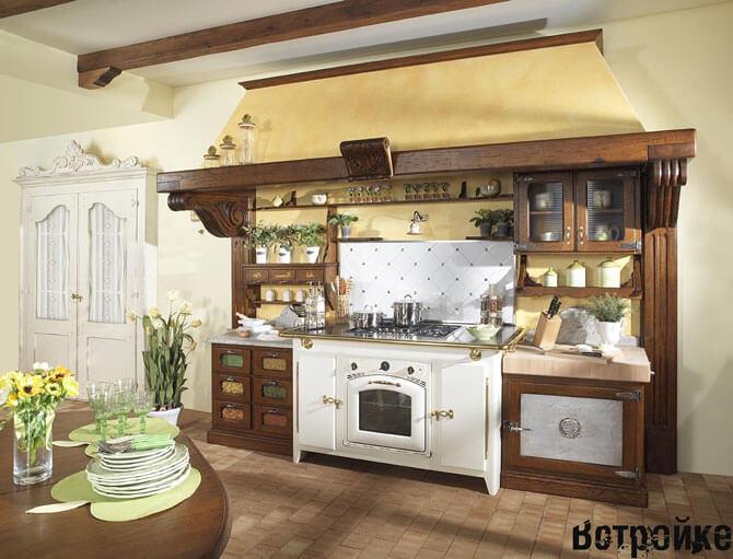 кухни из массива под старину