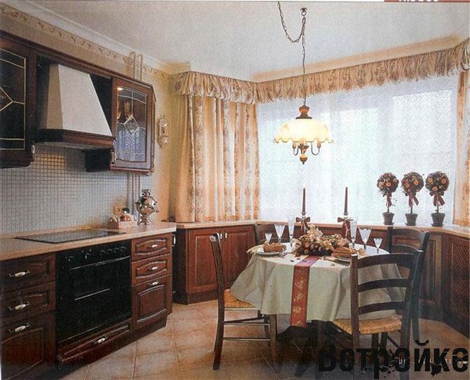Дизайн кухни с эркером п44т фото