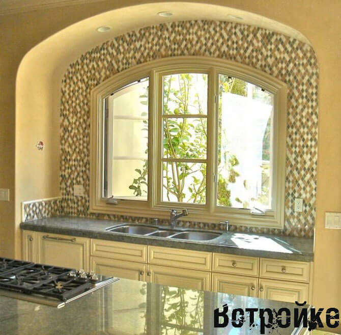 дизайн кухни с окном фото