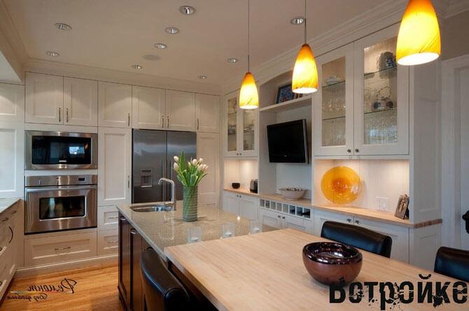 телевизор на кухне фото