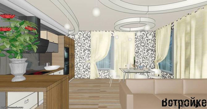 дизайн кухни со столовой фото