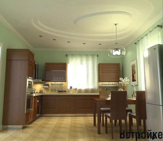 дизайн интерьера кухни гостиной столовой