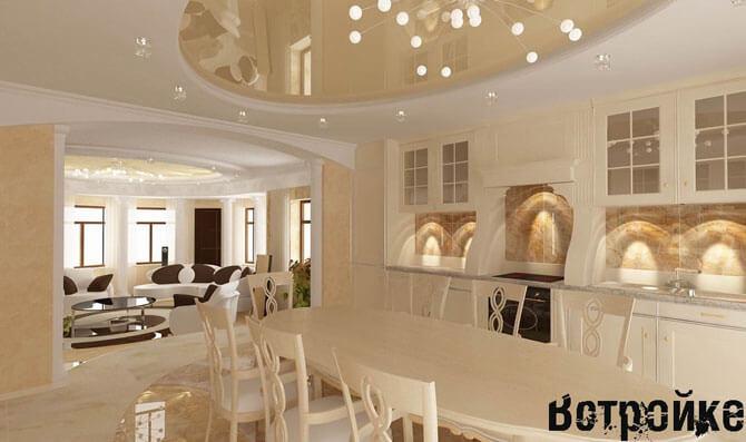дизайн интерьера кухни столовой фото