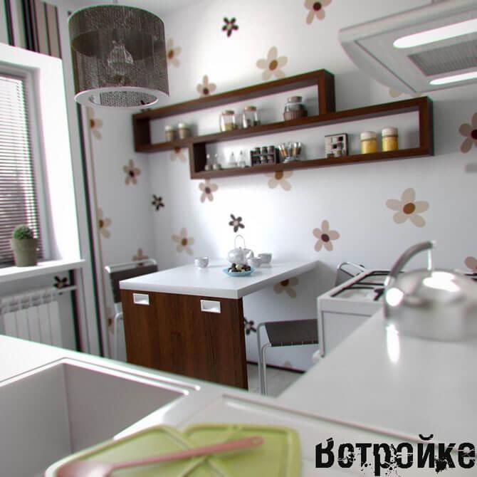 Дизайн кухни в брежневке