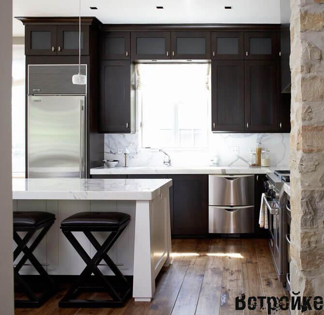 Кухня темная дизайн