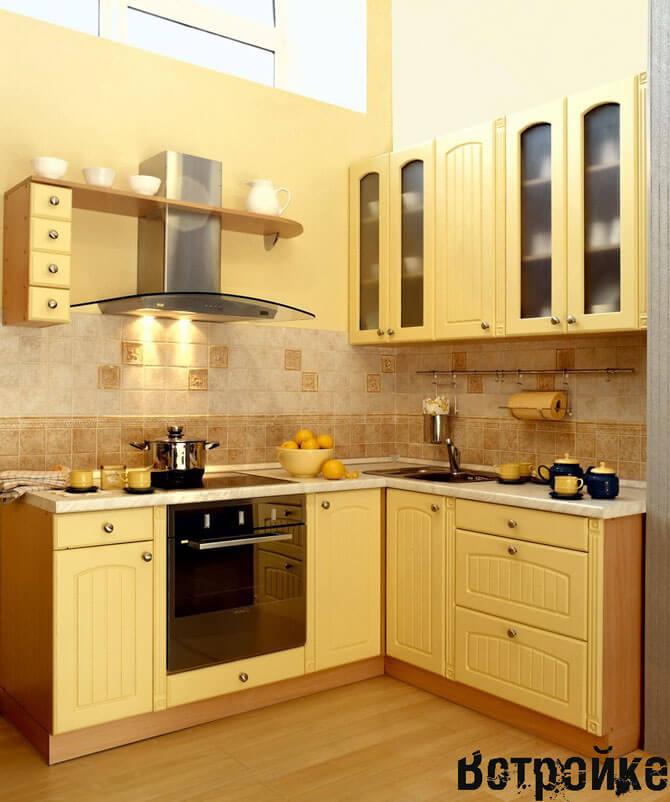 дизайн маленькой 6 м кухни