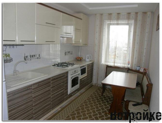 Дизайн прямоугольной кухни фото