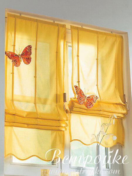 шторы и гардины на кухню