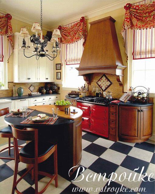 дизайн гардин для кухни