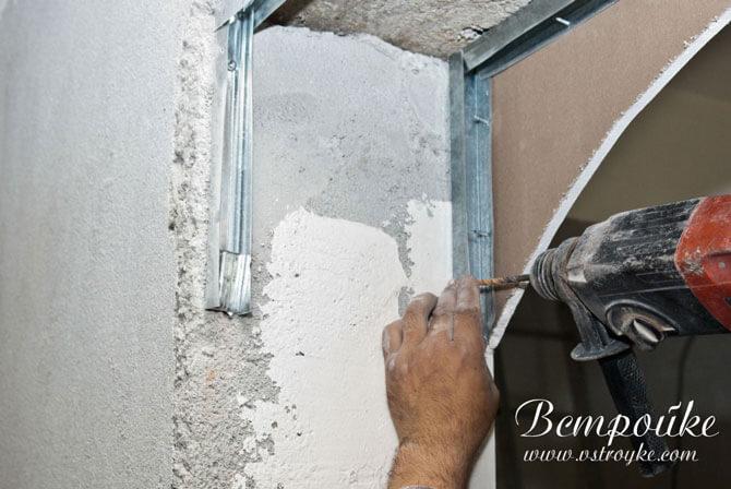 Крепление металлического профиля к стене