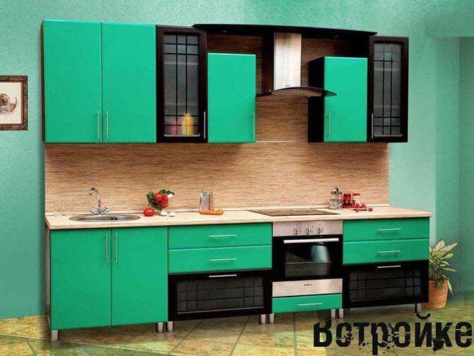 Кухня салатовая лира фото